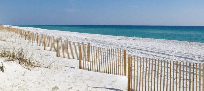 P6 classes in Pensacola Beach, Florida, are held at the Portofino Island Resort - image of a beach.